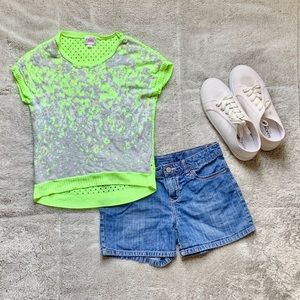 Neon Green and Grey Shirt